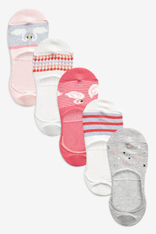 Next Swan Sparkle Invisible Trainer Socks Five Pack
