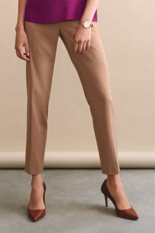 Next Sharkskin Texture Slim Trousers
