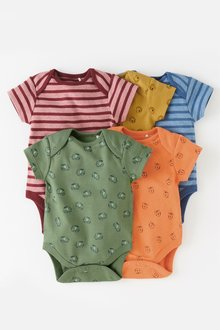 Next Character/Stripe Short Sleeve Bodysuits Five Pack (0mths-2yrs)