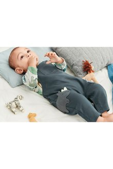Next Rhino Dungarees And Bodysuit Set (0mths-2yrs)