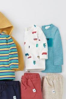 Next Stripe And Car Print T-Shirts Three Pack (0mths-2yrs)