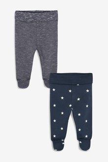 Next 2 Pack Star And Stripe Leggings (0mths-2yrs)