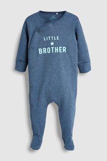 Next Brother Slogan Sleepsuit (0-18mths)