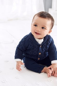 Next Cable Knit Cardigan (0mths-2yrs)