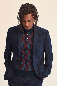 Next Check Suit: Jacket- Regular Fit