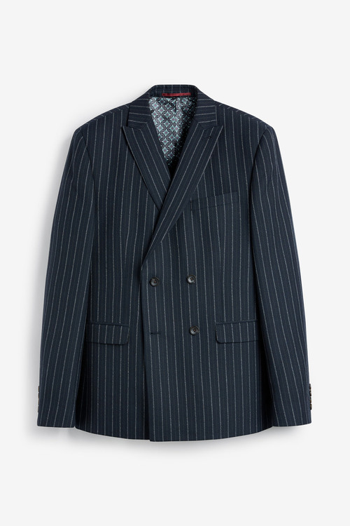 Next Stripe Suit: Jacket- Double Breasted Slim Fit