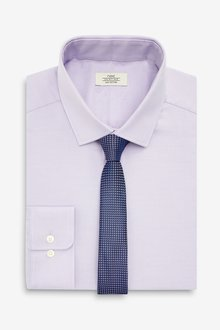 Next Tonic Shirt And Tie Set- Slim Fit Single Cuff