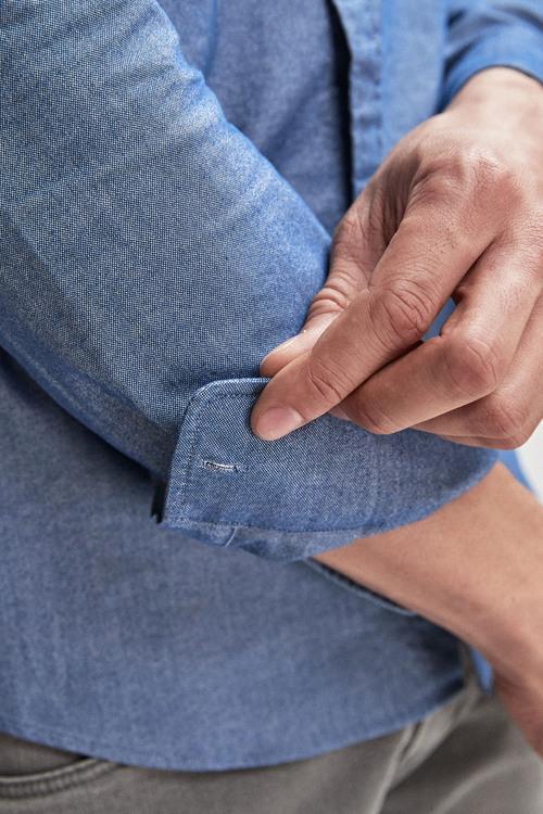 Next Long Sleeve Oxford Shirt- Regular Fit