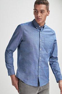 Next Long Sleeve Oxford Shirt- Regular Fit - 239632