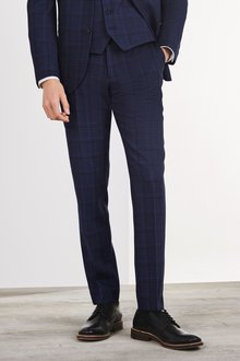 Next Check Suit: Trousers- Slim Fit