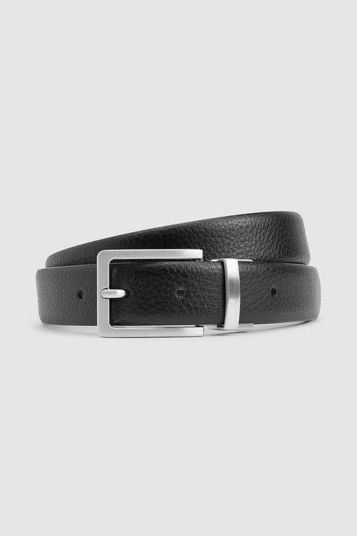 Next Signature Italian Leather Grain Effect Belt