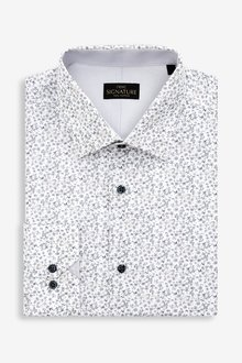 Next Signature Slim Fit Single Cuff Floral Shirt