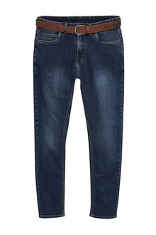 Next Belted Jeans With Stretch-Super Skinny Fit