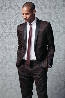 Next Jacquard Tuxedo Suit: Trousers