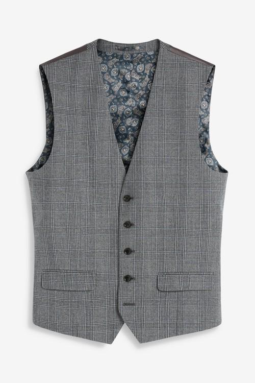 Next Empire Mills Signature Check Suit: Waistcoat