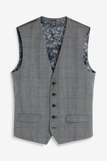Next Empire Mills Signature Check Suit: Waistcoat