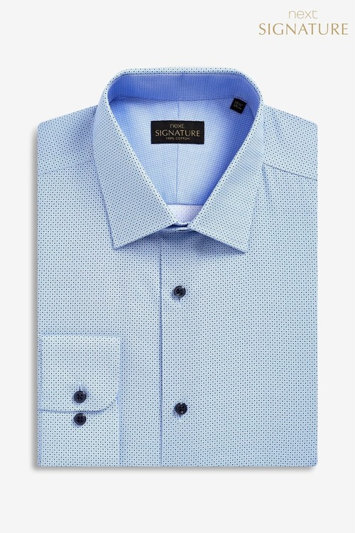 Next Signature Slim Fit Single Cuff Printed Shirt