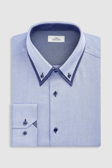 Next Slim Fit Single Cuff Double Collar Shirt