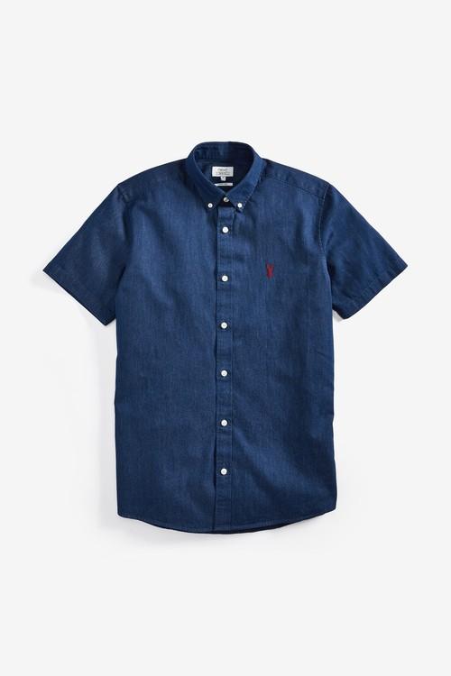 Next Denim Slim Fit Shirt