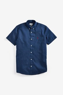 Next Denim Slim Fit Shirt