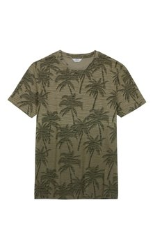 Next Palm Print Dip Dye T-Shirt