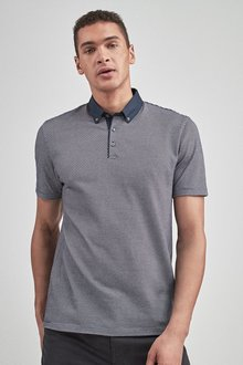 Next Woven Collar Polo