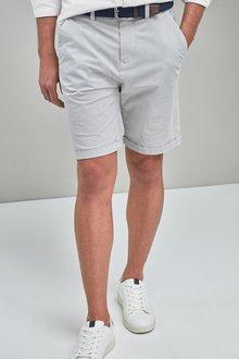 Next Fine Stripe Belted Shorts - 239762