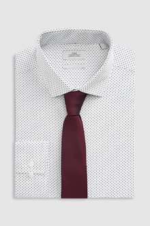 Next Regular Fit Single Cuff Printed Shirt With Tie Set