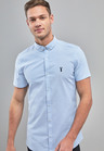 Next Skinny Fit Short Sleeve Stretch Oxford Shirt