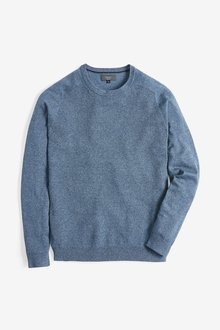 Next Cotton Rich Textured Crew