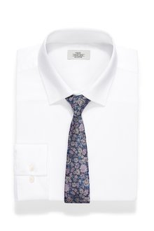 Next Regular Fit Shirt And Floral Tie Set