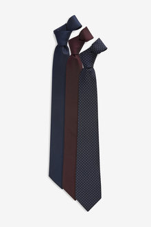 Next Textured And Spot Ties Three Pack