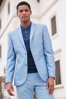 Next Cotton Suit: Jacket- Skinny Fit