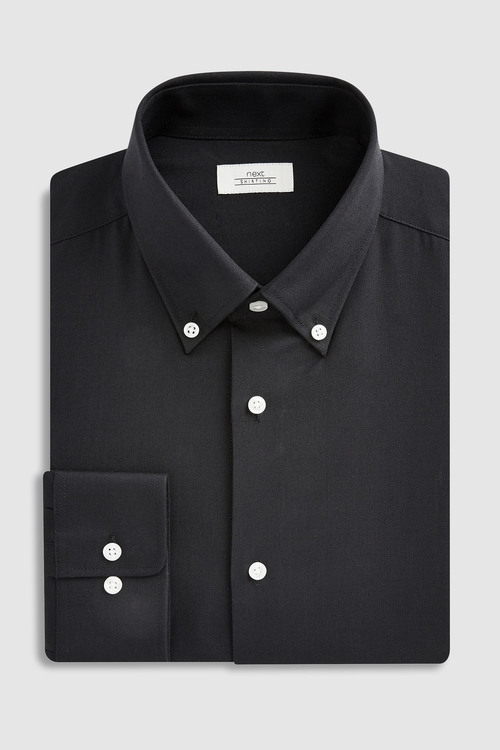 Next Easy Care Oxford Shirt-Slim Fit Single Cuff