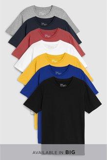 Next Mixed Colour T-Shirts Seven Pack