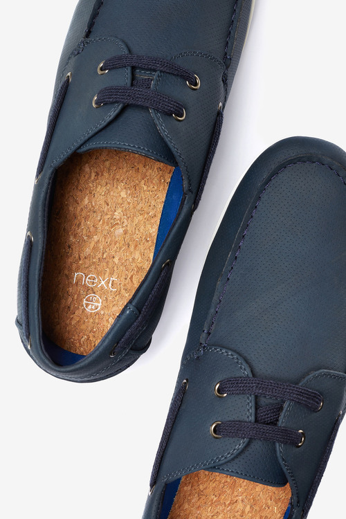 Next Textured Boat Shoe