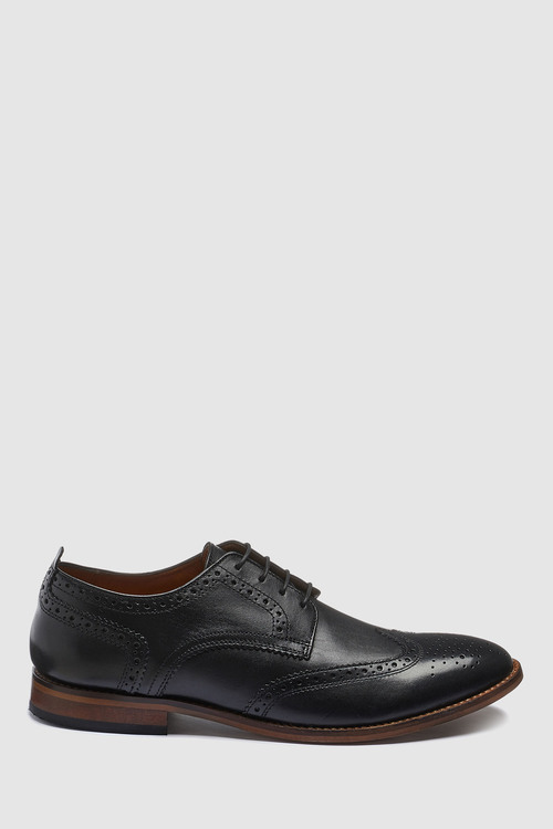 Next Leather Contrast Sole Brogue