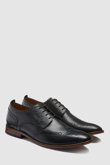 Next Leather Contrast Sole Brogue - 239820