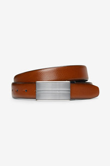 Next Signature Reversible Italian Leather Plaque Belt - 239847