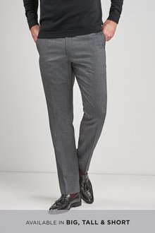 Next Wool Blend Textured Trousers