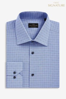 Next Signature Slim Fit Check Shirt