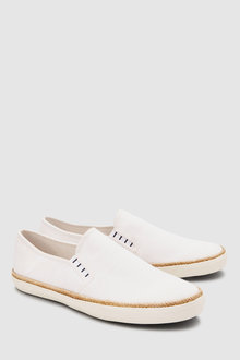 Next Canvas Jute Slip-On
