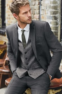 Next Textured Suit: Jacket- Slim Fit