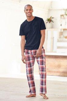 Next Check Woven Long Pyjama Set