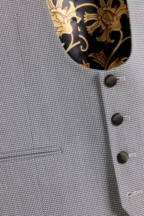 Next Textured Tuxedo Suit: Waistcoat