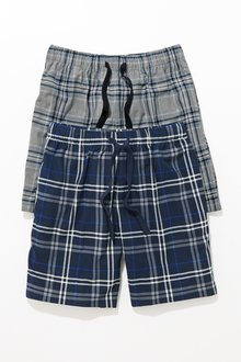 Next Check Cosy Pyjama Shorts Two Pack