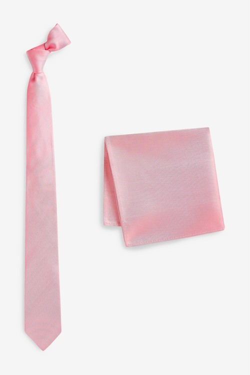 Next Silk Tie And Pocket Square Set