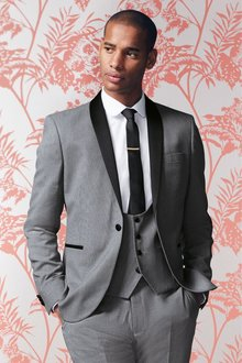 Next Textured Tuxedo Suit: Jacket
