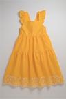 Pumpkin Patch Dress with Embroidery Hem