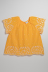 Pumpkin Patch Top with Embroidered Hem